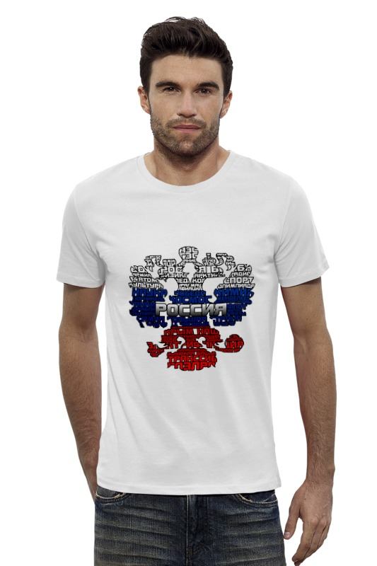 Футболка Wearcraft Premium Slim Fit Printio Россия триколор футболка wearcraft premium printio россия украина