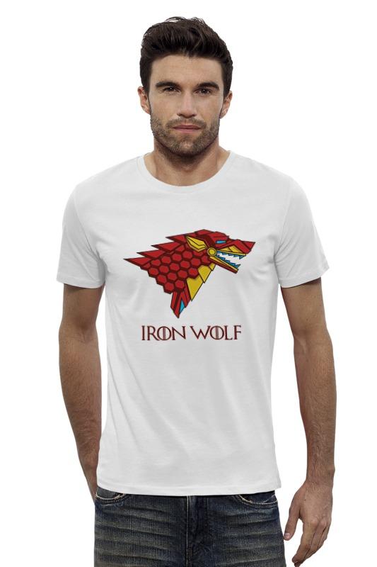 Футболка Wearcraft Premium Slim Fit Printio Iron wolf (stark x iron man) футболка классическая printio stark bucks coffee iron man