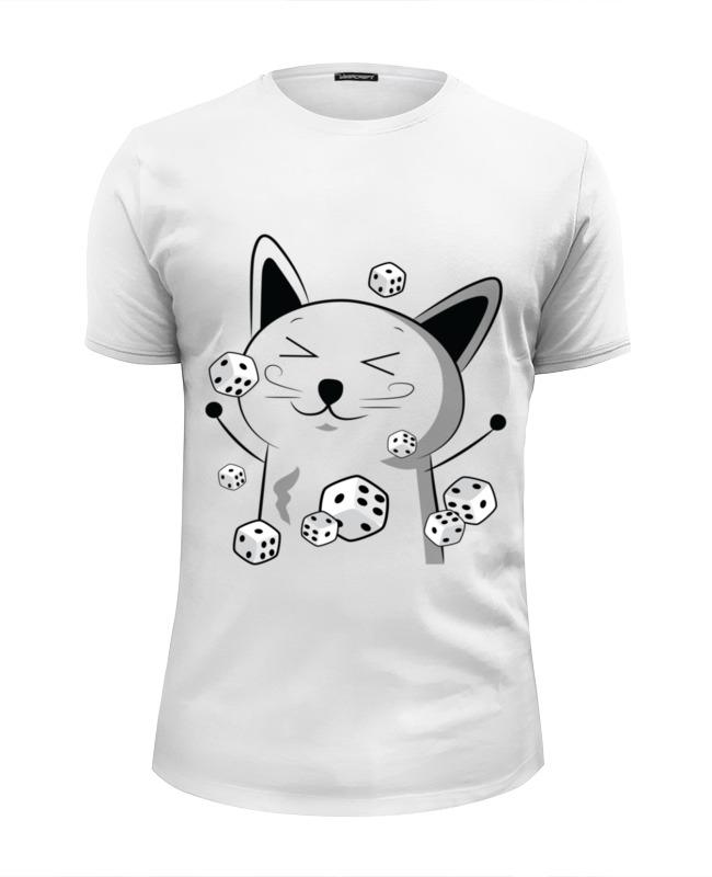 Футболка Wearcraft Premium Slim Fit Printio Счастливый котэ с кубиками футболка wearcraft premium printio кубики