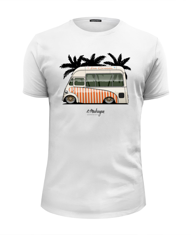 Футболка Wearcraft Premium Slim Fit Printio Stance ice cream car