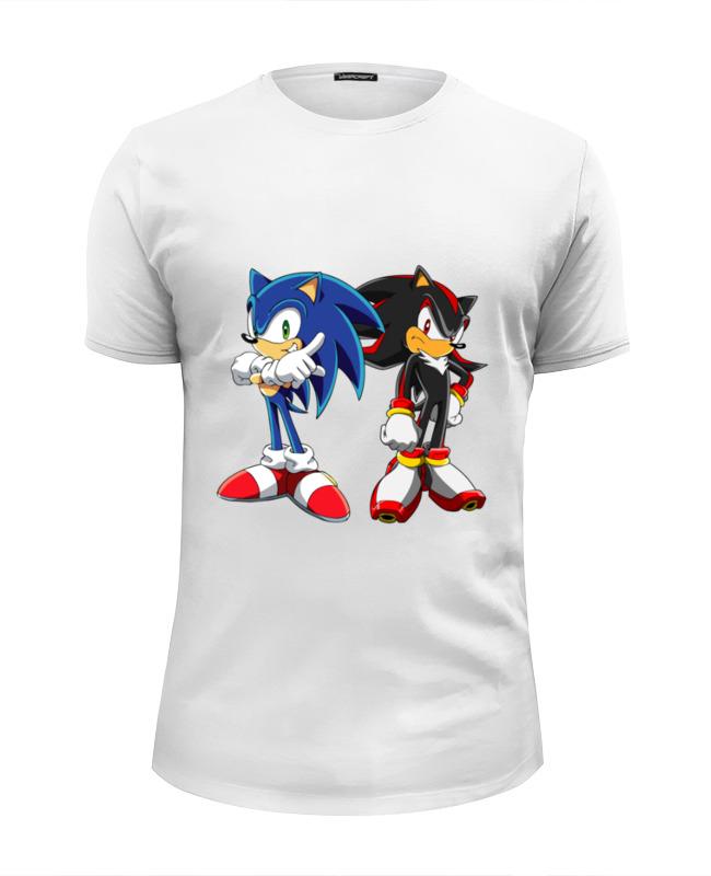 Футболка Wearcraft Premium Slim Fit Printio Sonic shadow grey pocket front round neck long sleeves t shirt
