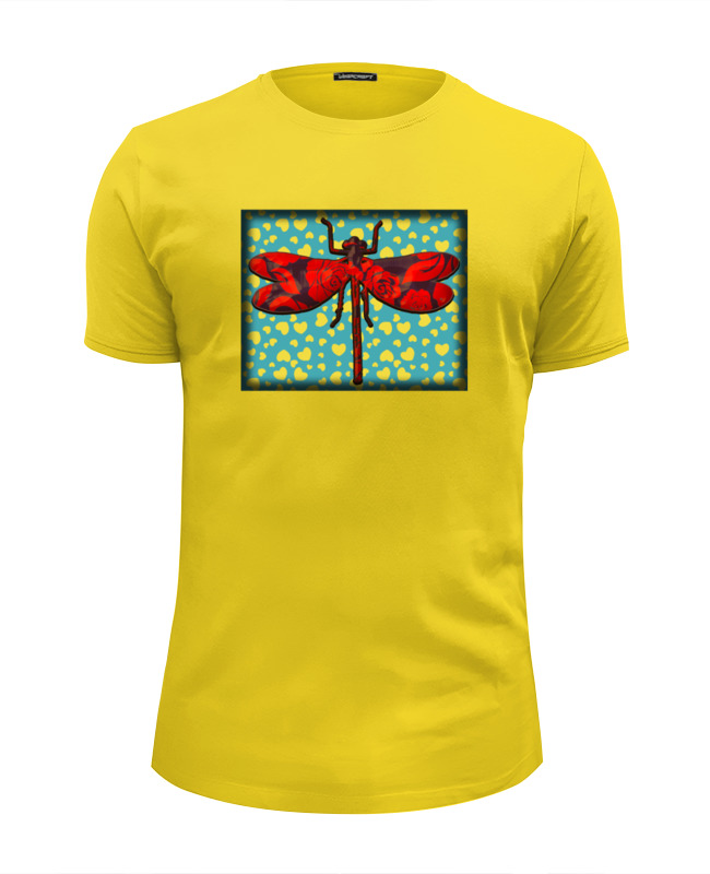 Футболка Wearcraft Premium Slim Fit Printio Влюбленная стрекоза футболка wearcraft premium slim fit printio день рождения