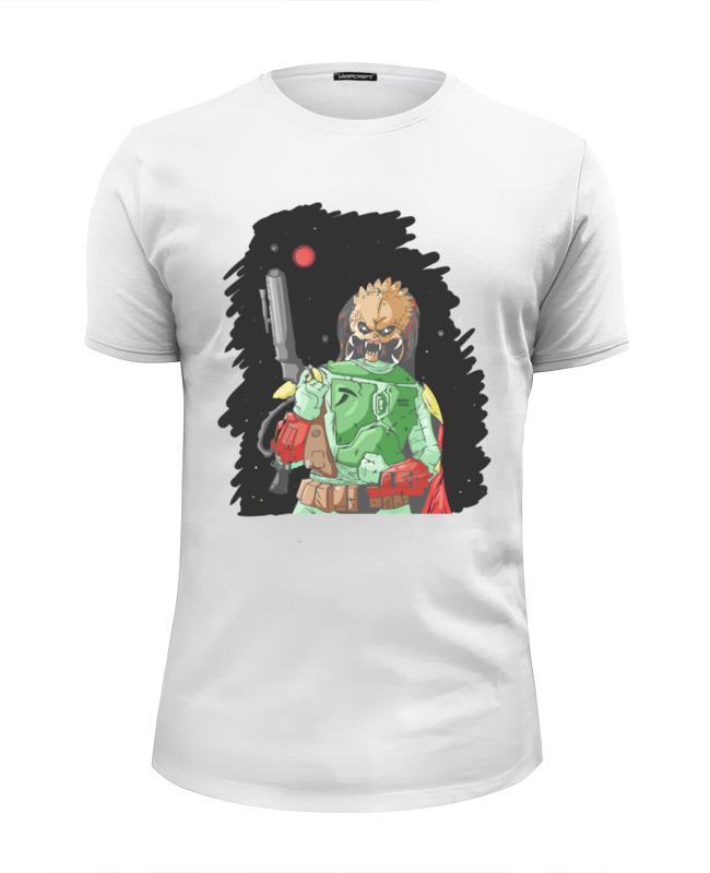 Футболка Wearcraft Premium Slim Fit Printio Хищник х боба фетт футболка классическая printio хищник х боба фетт