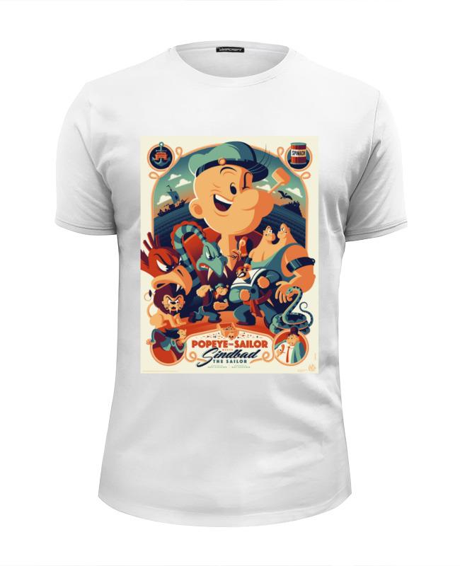 Футболка Wearcraft Premium Slim Fit Printio Моряк попай / popeye the sailor футболка для беременных printio popeye