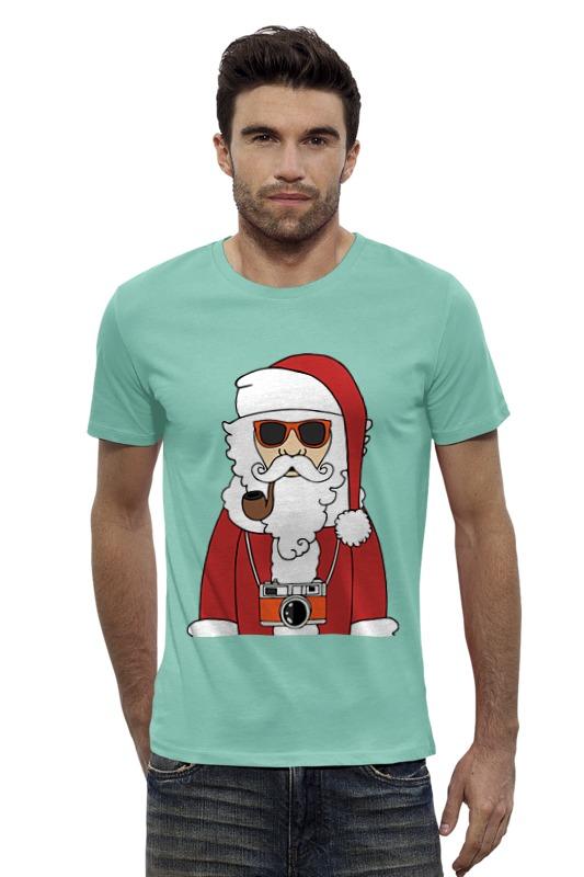 Футболка Wearcraft Premium Slim Fit Printio Дед мороз в очках футболка wearcraft premium slim fit printio кит в банке
