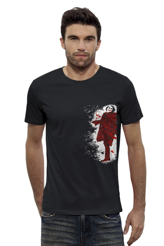 Футболка Wearcraft Premium Slim Fit Printio Джокер детский костюм озорного клоуна 34