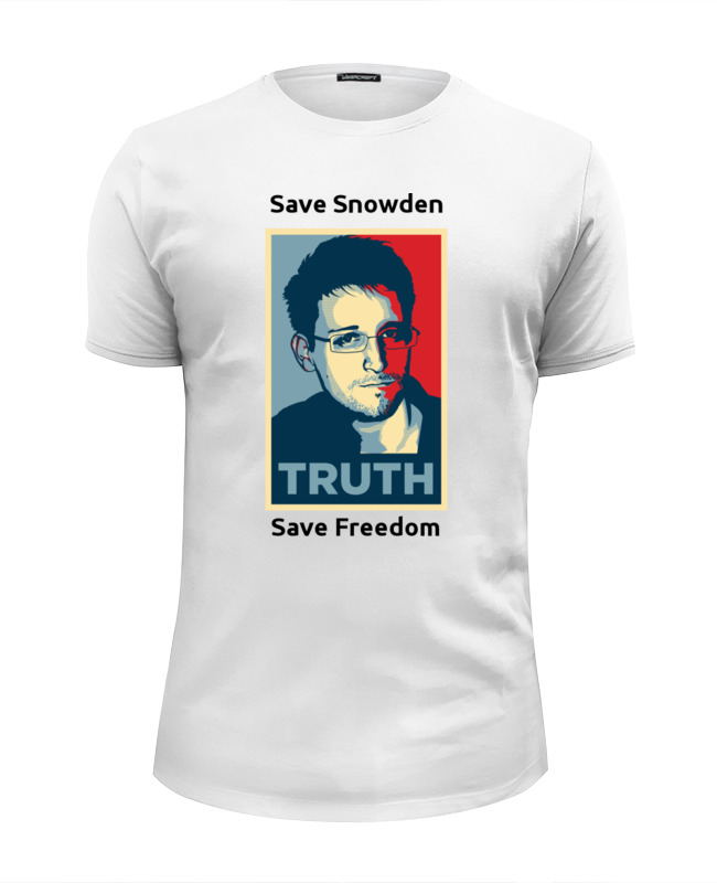 Футболка Wearcraft Premium Slim Fit Printio Save snowden сноуден save 20