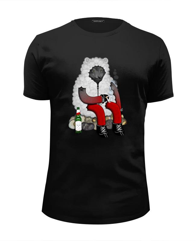 Футболка Wearcraft Premium Slim Fit Printio Волк в овечьей шкуре