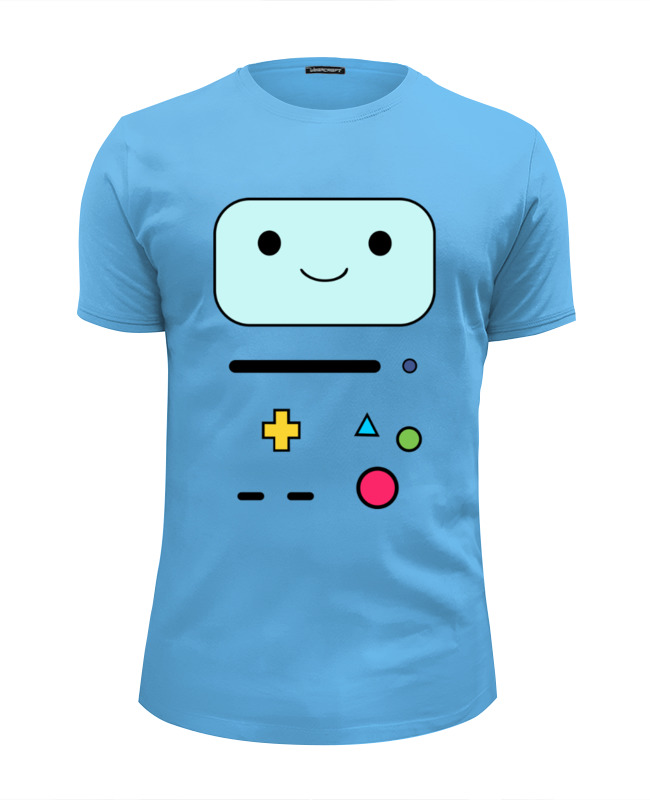 Футболка Wearcraft Premium Slim Fit Printio Bmo adventure time