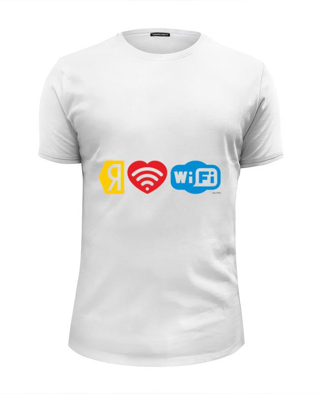 Футболка Wearcraft Premium Slim Fit Printio I love wi-fi wi fi роутер
