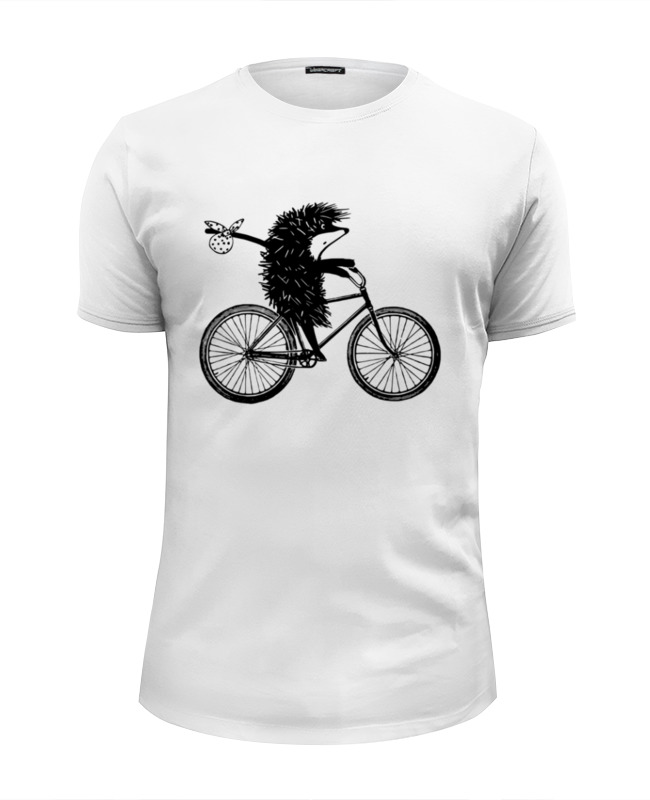 Футболка Wearcraft Premium Slim Fit Printio Ежик на велосипеде 2