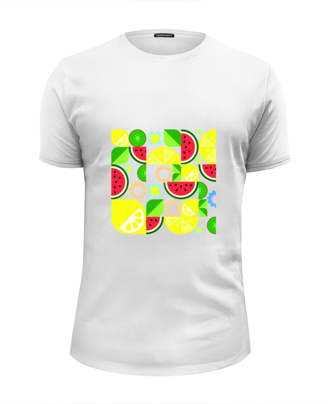 Футболка Wearcraft Premium Slim Fit Printio Летние фрукты футболка wearcraft premium printio фрукты