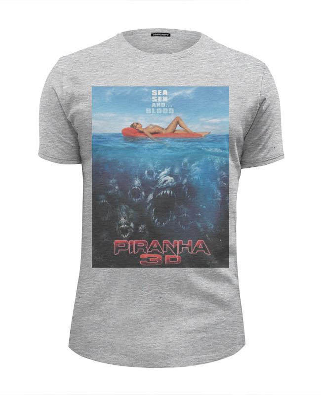 Футболка Wearcraft Premium Slim Fit Printio Piranha / пираньи футболка wearcraft premium printio piranha пираньи