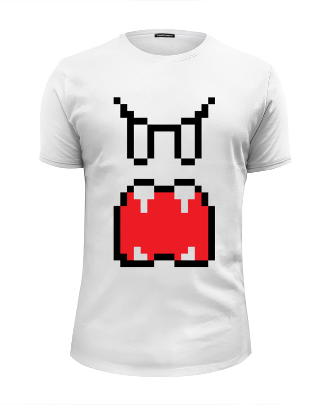 Футболка Wearcraft Premium Slim Fit Printio Приведение (8-бит) футболка wearcraft premium printio губы 8 бит