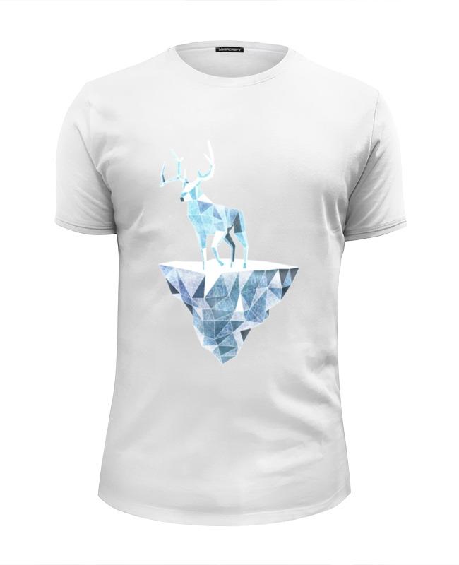 Футболка Wearcraft Premium Slim Fit Printio Ледяной олень и и лажечников ледяной дом