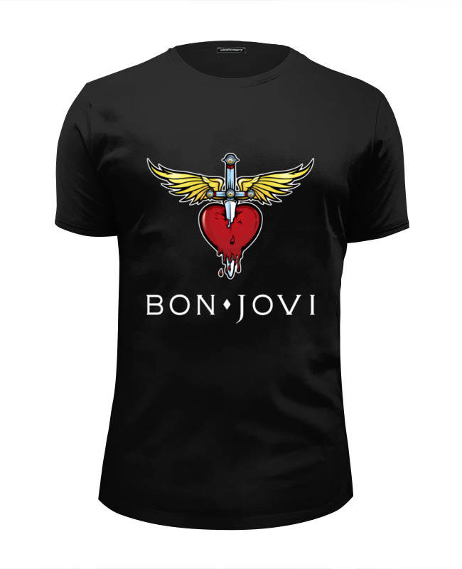 Футболка Wearcraft Premium Slim Fit Printio Bon jovi цена и фото