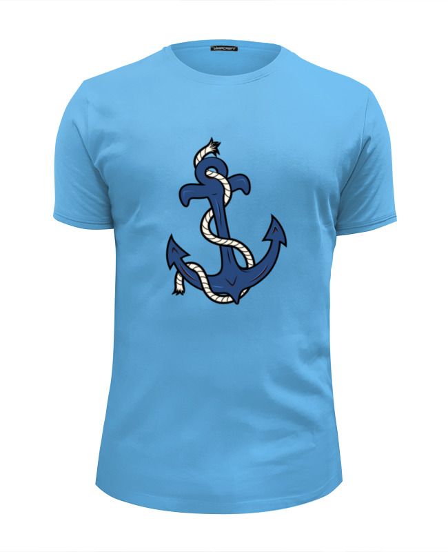 Футболка Wearcraft Premium Slim Fit Printio Якорь футболка wearcraft premium printio якорь