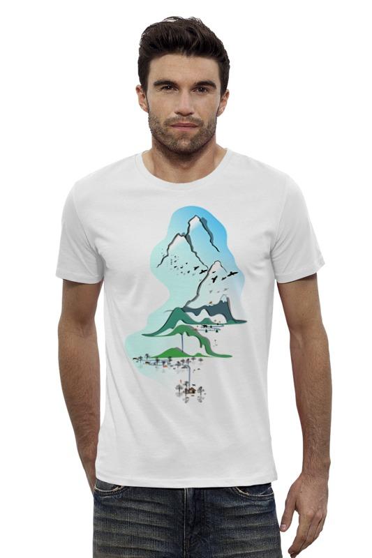 Футболка Wearcraft Premium Slim Fit Printio Горы в стиле минимализма футболка wearcraft premium slim fit printio кит в банке