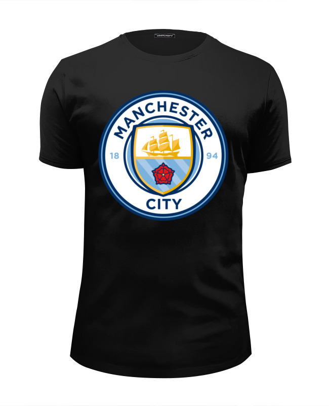 Футболка Wearcraft Premium Slim Fit Printio Manchester city футболка nike manchester city 898623 488