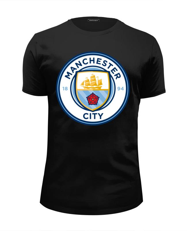 Футболка Wearcraft Premium Slim Fit Printio Manchester city футболка nike manchester city 898623 488