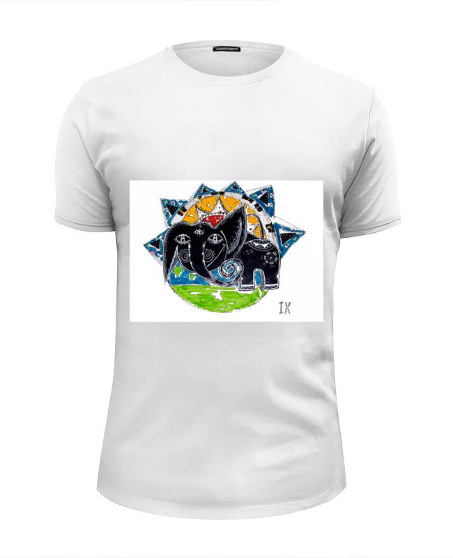 Футболка Wearcraft Premium Slim Fit Printio Слоник футболка wearcraft premium slim fit printio зеленый слоник