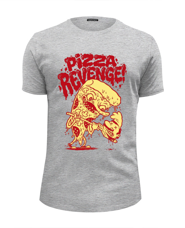 Футболка Wearcraft Premium Slim Fit Printio Pizza revenge блуза sister jane sister jane si030ewbhvq8