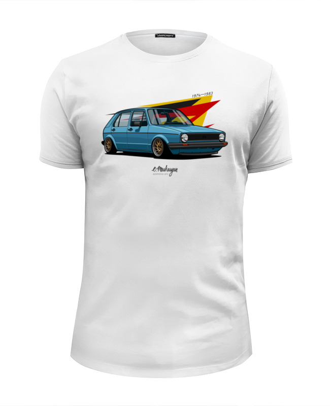 Футболка Wearcraft Premium Slim Fit Printio Vw golf