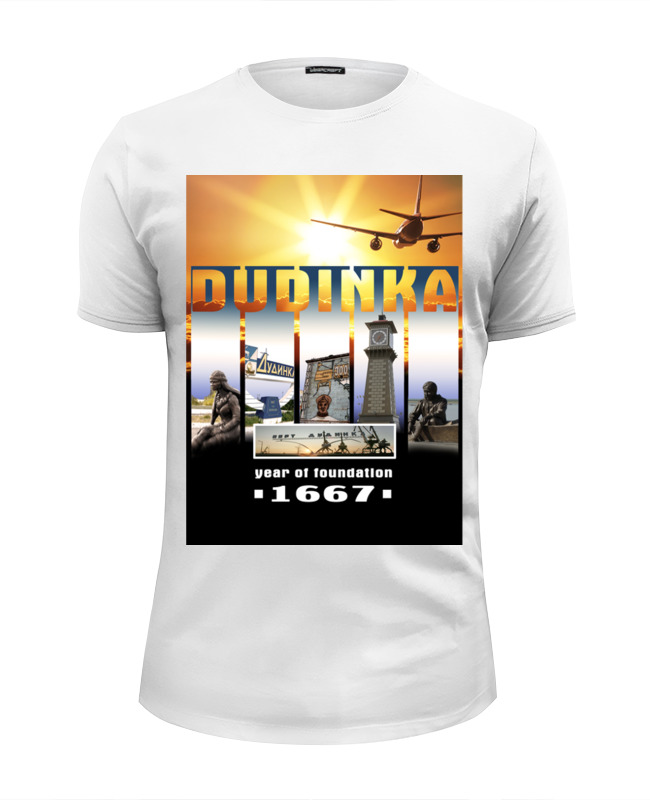 Футболка Wearcraft Premium Slim Fit Printio Dudinka city