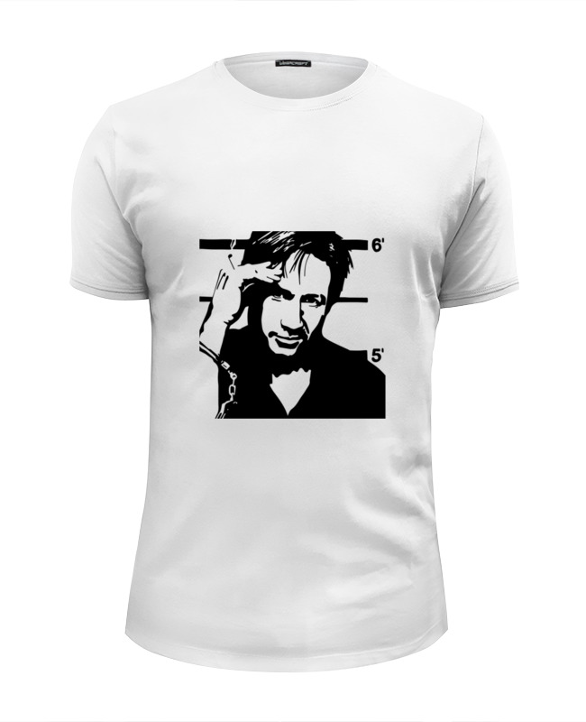 Футболка Wearcraft Premium Slim Fit Printio Hank moody (хэнк муди), californication футболка классическая printio hank moody хэнк муди californication