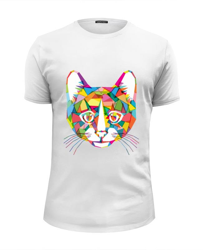 Футболка Wearcraft Premium Slim Fit Printio Кот (cat) футболка wearcraft premium slim fit printio кот суши