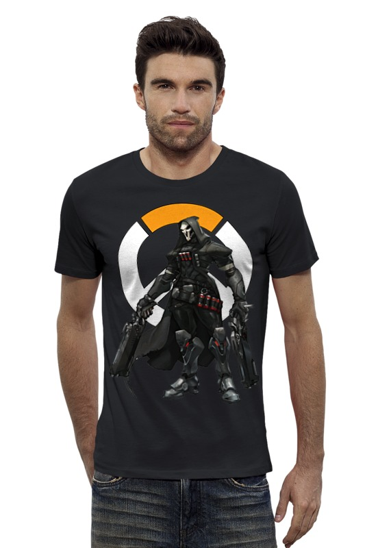 Футболка Wearcraft Premium Slim Fit Printio Overwatch reaper / жнец овервотч