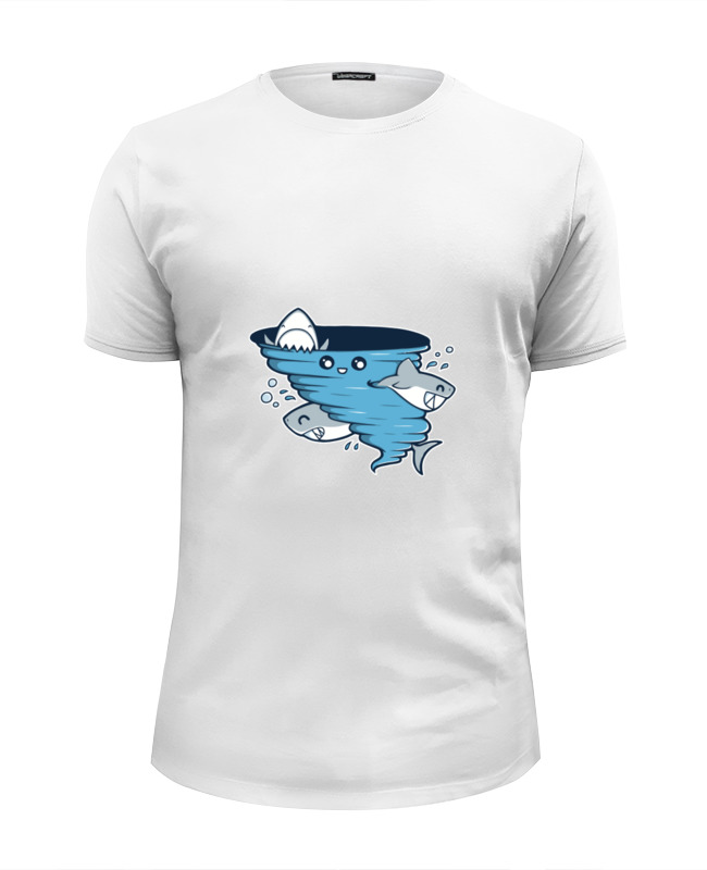 Футболка Wearcraft Premium Slim Fit Printio Водоворот акул футболка рингер printio водоворот акул