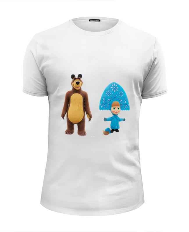 Футболка Wearcraft Premium Slim Fit Printio Кукла-девочка маша и миша. смешные озорные футболка классическая printio кукла девочка маша и миша смешные озорные