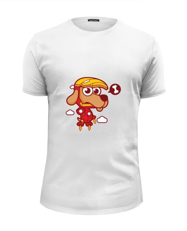 Футболка Wearcraft Premium Slim Fit Printio Собака (железный человек) футболка wearcraft premium slim fit printio ктулху железный человек