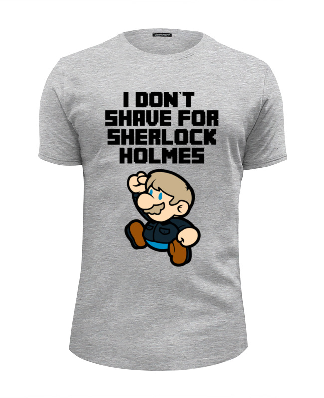 Printio Mario x sherlock holmes футболка wearcraft premium slim fit printio i don t shave for sherlock holmes