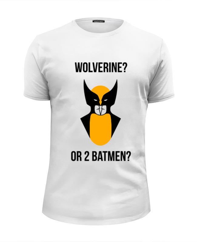 Футболка Wearcraft Premium Slim Fit Printio Wolverine or batmen
