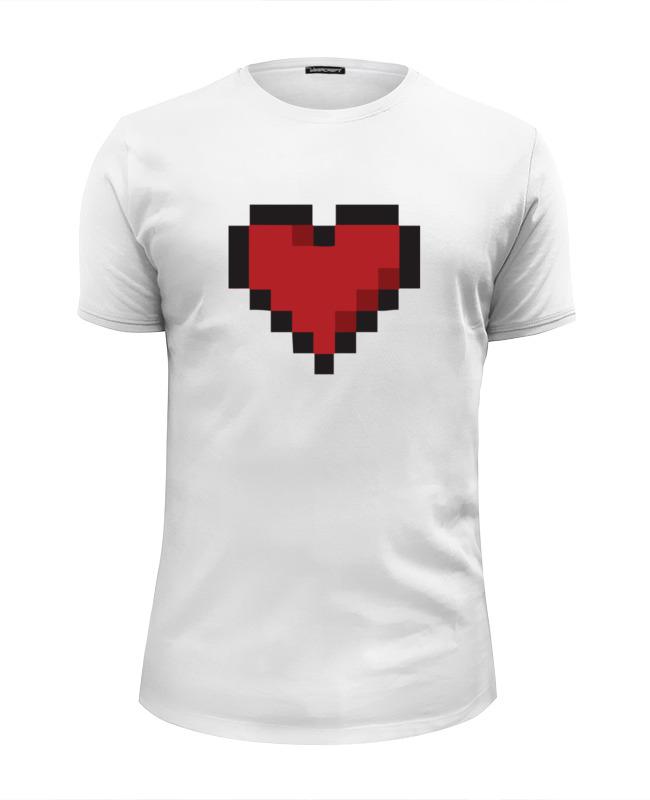 цены Футболка Wearcraft Premium Slim Fit Printio Пиксельное сердце (8-бит)