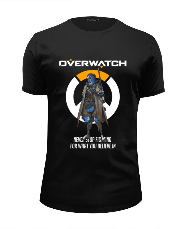Футболка Wearcraft Premium Slim Fit Printio Overwatch. ана толстовка wearcraft premium унисекс printio overwatch ана