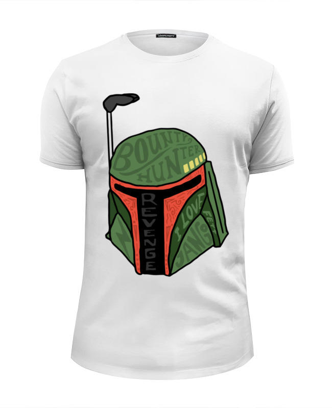 Футболка Wearcraft Premium Slim Fit Printio Boba fett (star wars)