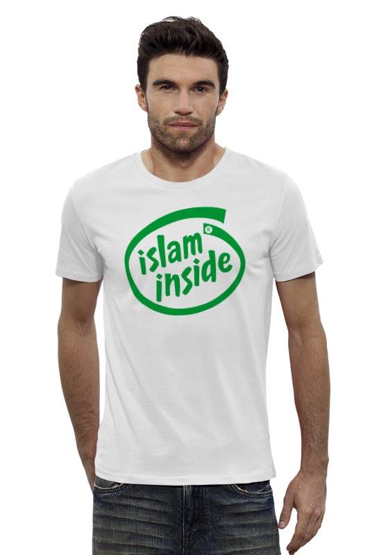 Футболка Wearcraft Premium Slim Fit Printio Ислам внутри zamzam zamzam люблю ислам