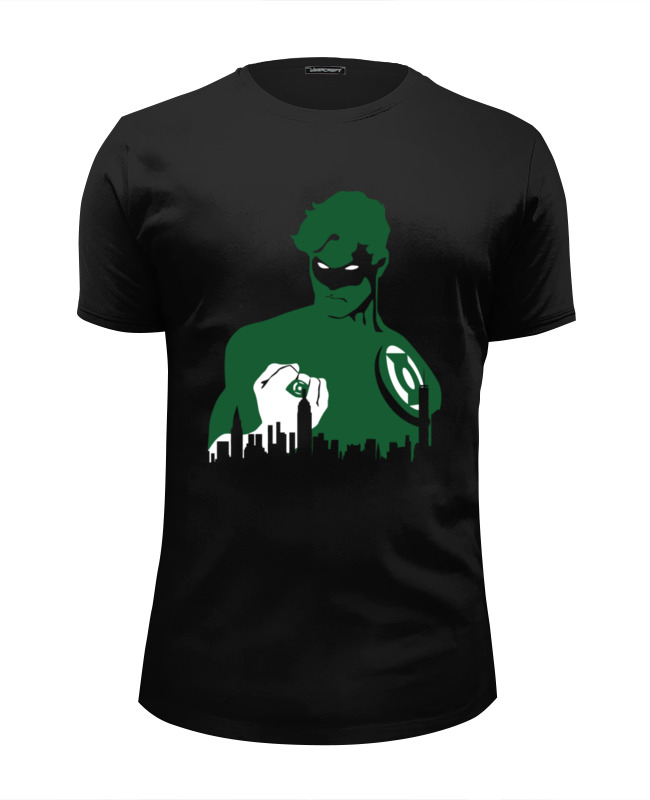 все цены на Футболка Wearcraft Premium Slim Fit Printio Зеленый фонарь (green lantern) онлайн