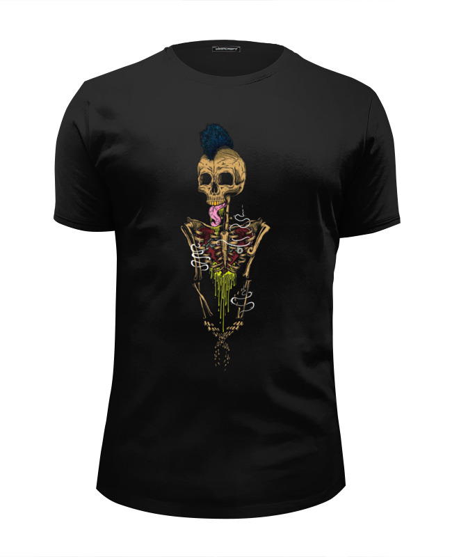 Футболка Wearcraft Premium Slim Fit Printio Skeleton art футболка wearcraft premium slim fit printio holy skeleton