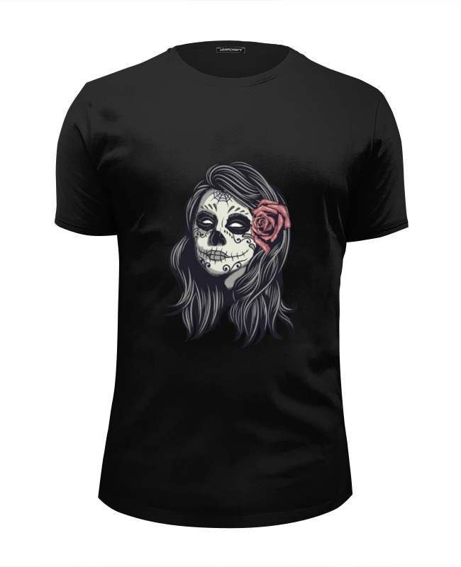 Футболка Wearcraft Premium Slim Fit Printio Dia de los muertos футболка wearcraft premium slim fit printio los angeles