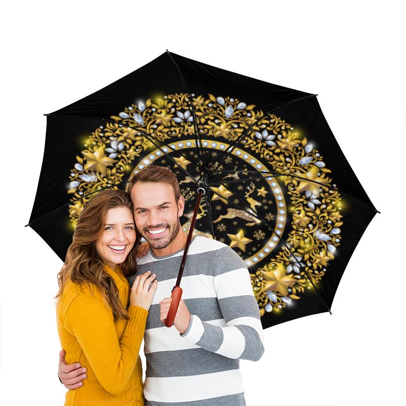 Зонт-трость двусторонний с деревянной ручкой Printio Олени printio зонт трость двусторонний с деревянной ручкой