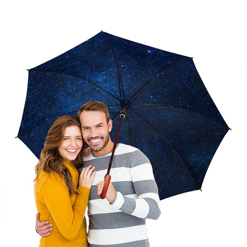 Зонт-трость двусторонний с деревянной ручкой Printio Звездное небо картленд барбара звездное небо гонконга