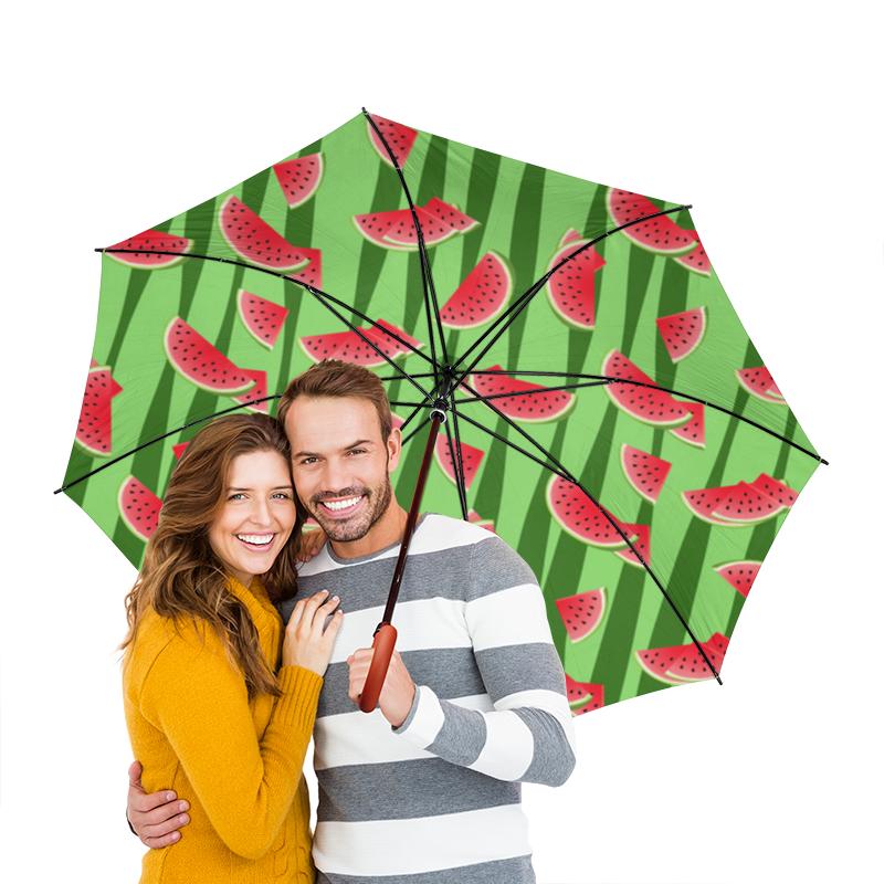 Зонт-трость двусторонний с деревянной ручкой Printio Арбуз зонт трость с деревянной ручкой printio арбуз