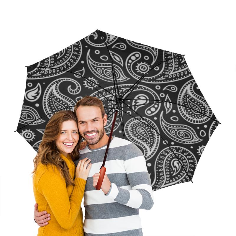 Зонт-трость двусторонний с деревянной ручкой Printio Индийский огурец серикова г момордика индийский лекарь на вашей даче