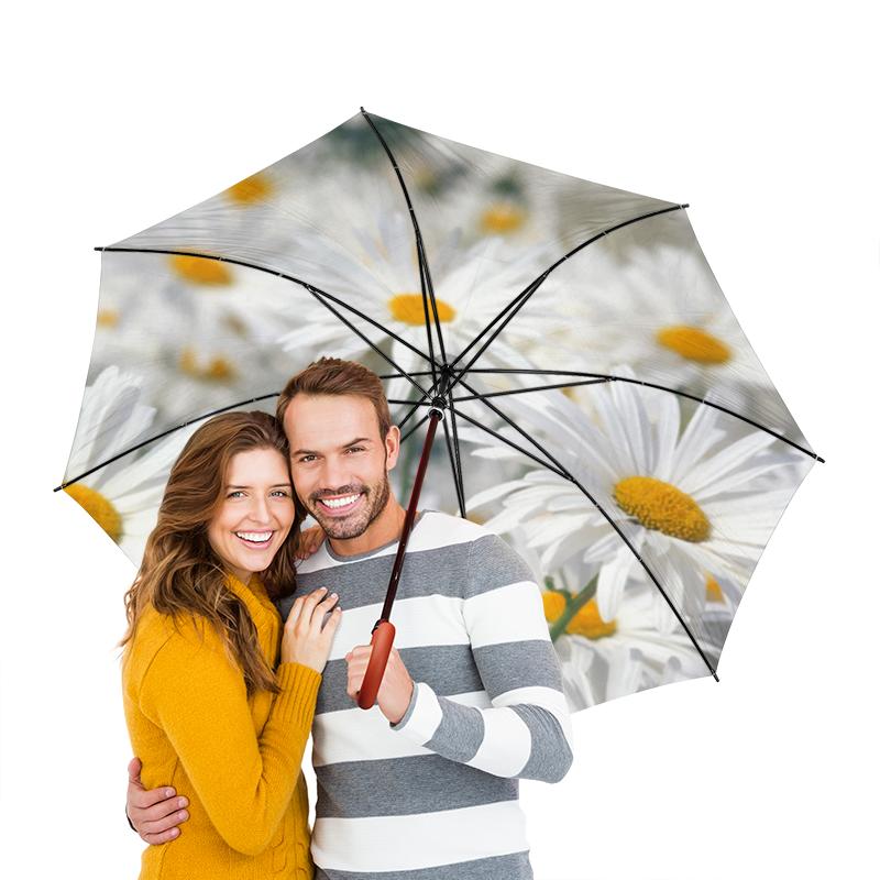 Зонт-трость двусторонний с деревянной ручкой Printio Ромашки зонт трость с деревянной ручкой printio ромашки