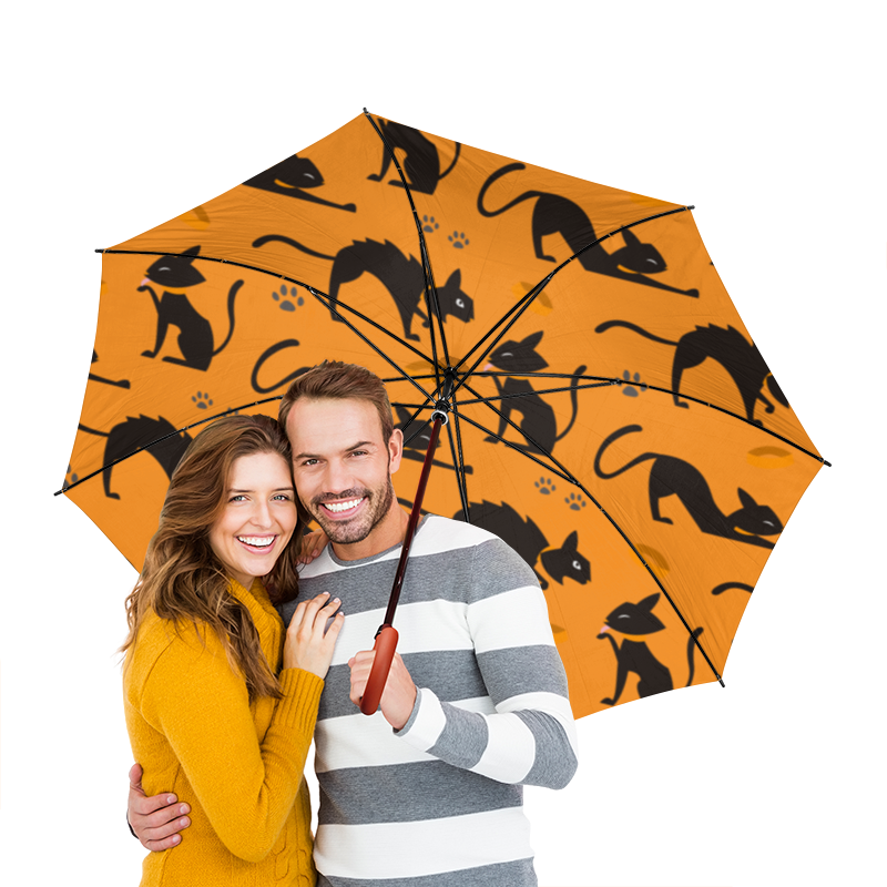 Зонт-трость двусторонний с деревянной ручкой Printio Кошки для кошки