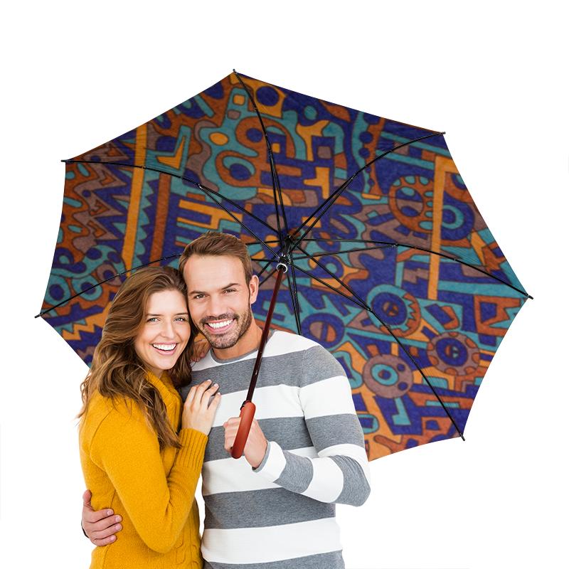 Зонт-трость двусторонний с деревянной ручкой Printio Y7t6ggjlla11zzz зонт трость двусторонний с деревянной ручкой printio индийский огурец